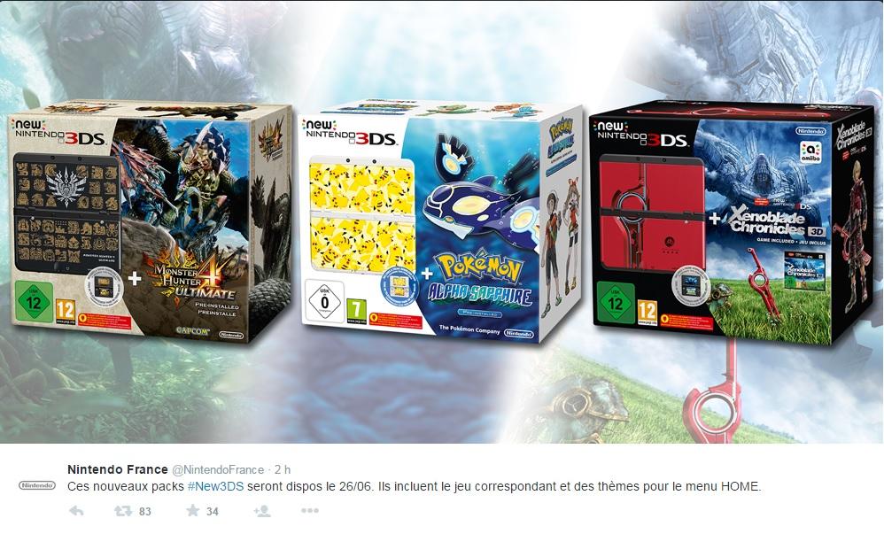 Nouveaux Packs 3DS Twweet
