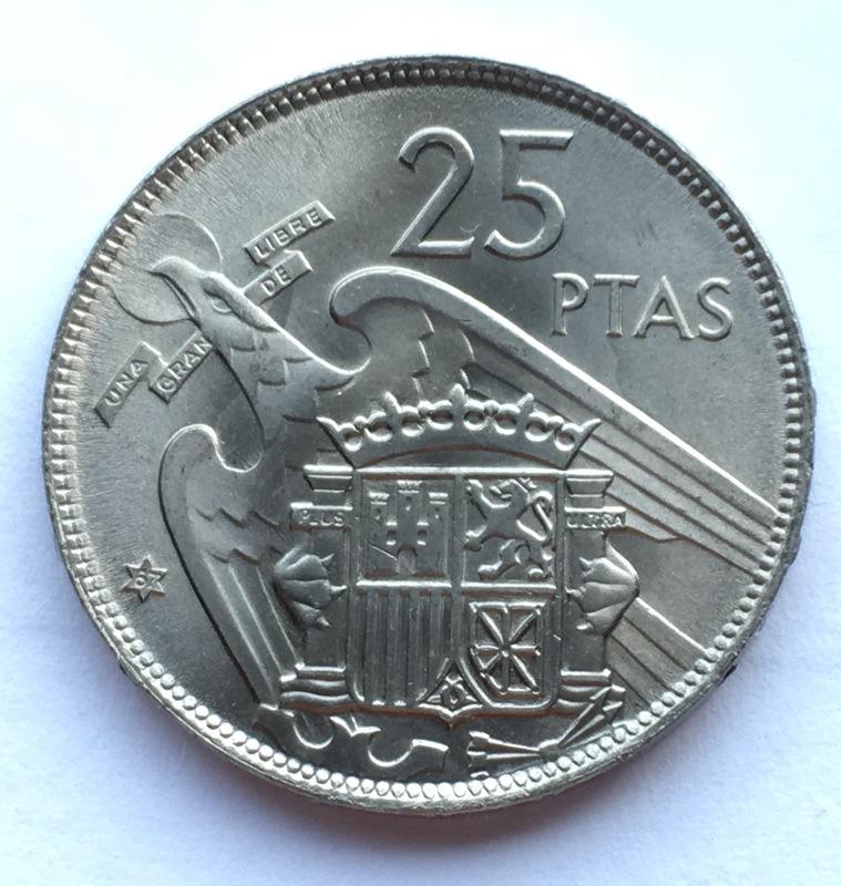 25 pesetas 1957 (*67). Estado Español. Opinión IMG_8309