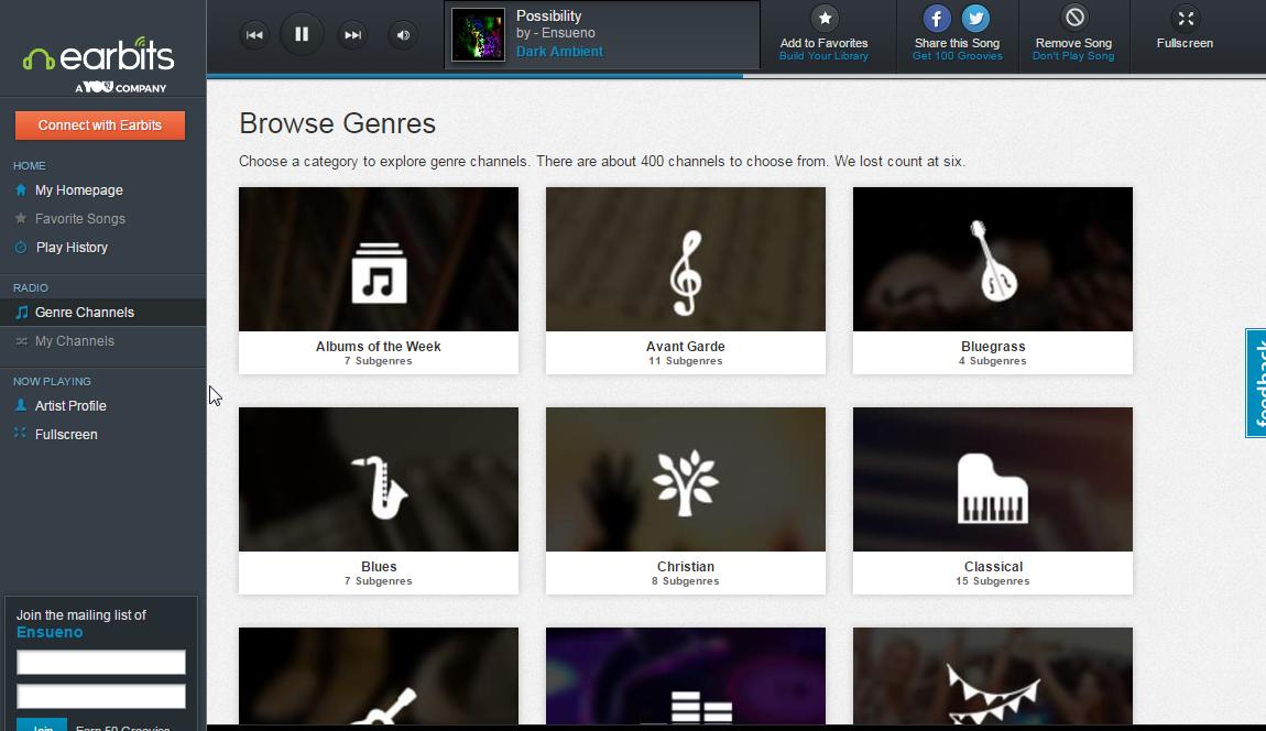 Earbits - Radio online Screenshot_196