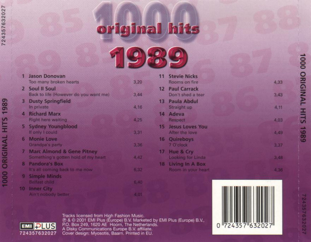 1000 Original Hits 1960-1999  - Stránka 2 1000_Original_Hits_1989_-_Back