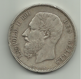 5 francos belgas 1873 Leopoldo II 5_francos_Belgica_Leopoldo_II_1873_anver