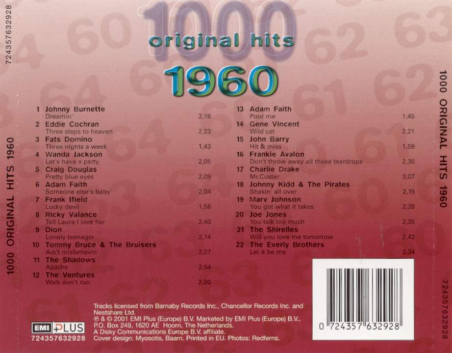 1000 Original Hits 1960-1999  1000_Original_Hits_1960_-_Back