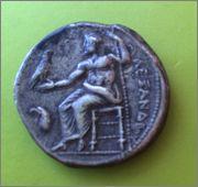 Tetradracma de Alejandro III de Macedonia. AΛEXANΔPOY. Griega_2