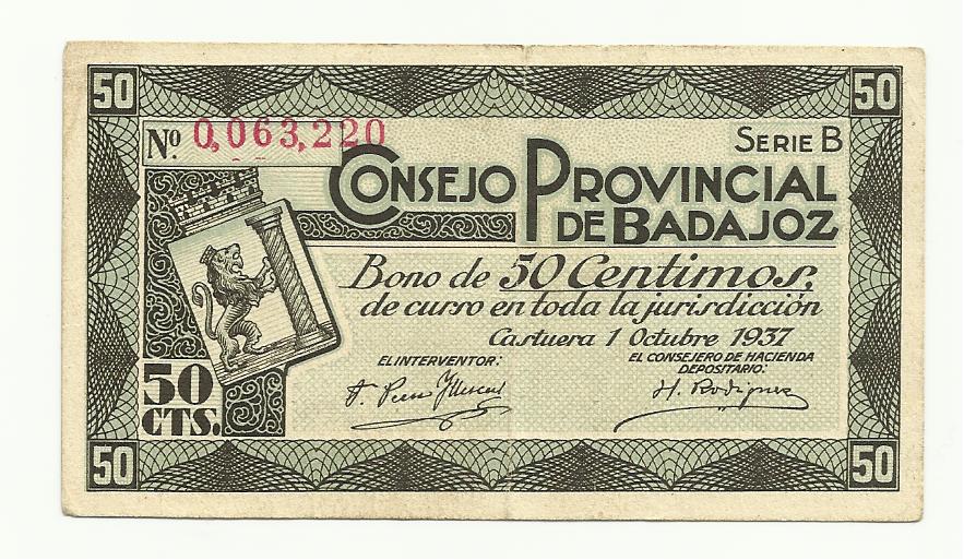 50 Centimos Consejo Provincial de Badajoz 1937 (Bono) 50_centimos_consejo_provincial_de_Badajoz_anver