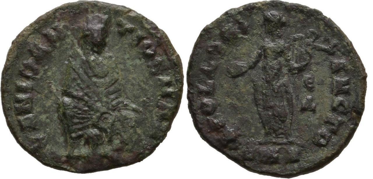 1/4 de nummus anónimo atribuido al reinado de Maximino II. Max_ii_9_antioquia