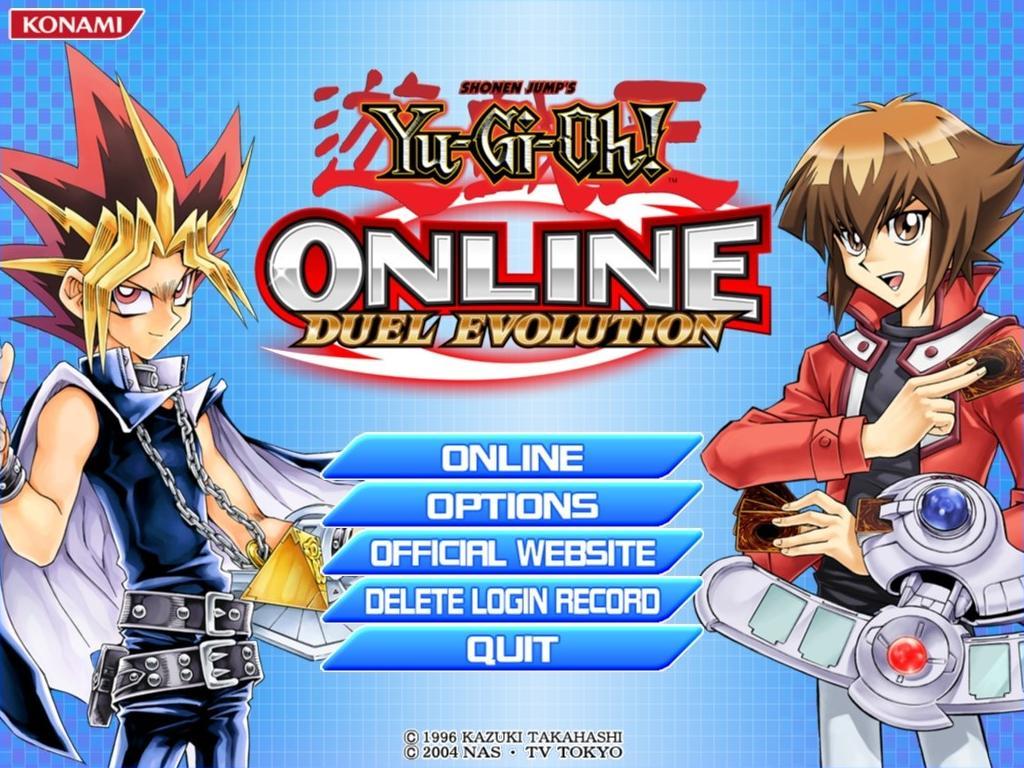 Yu-Gi-Oh online Duel evolution Main_Screen-_YGOOEV