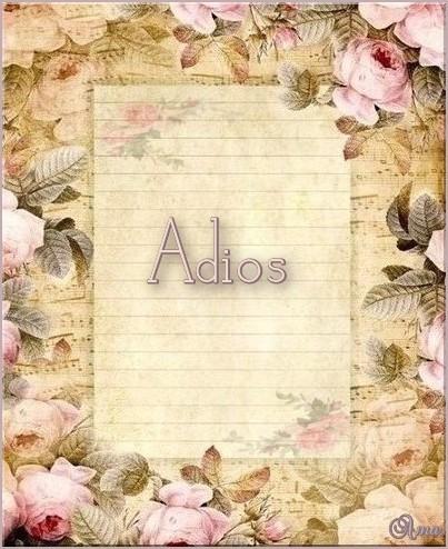 Papel Carta Antiguo ADIOS