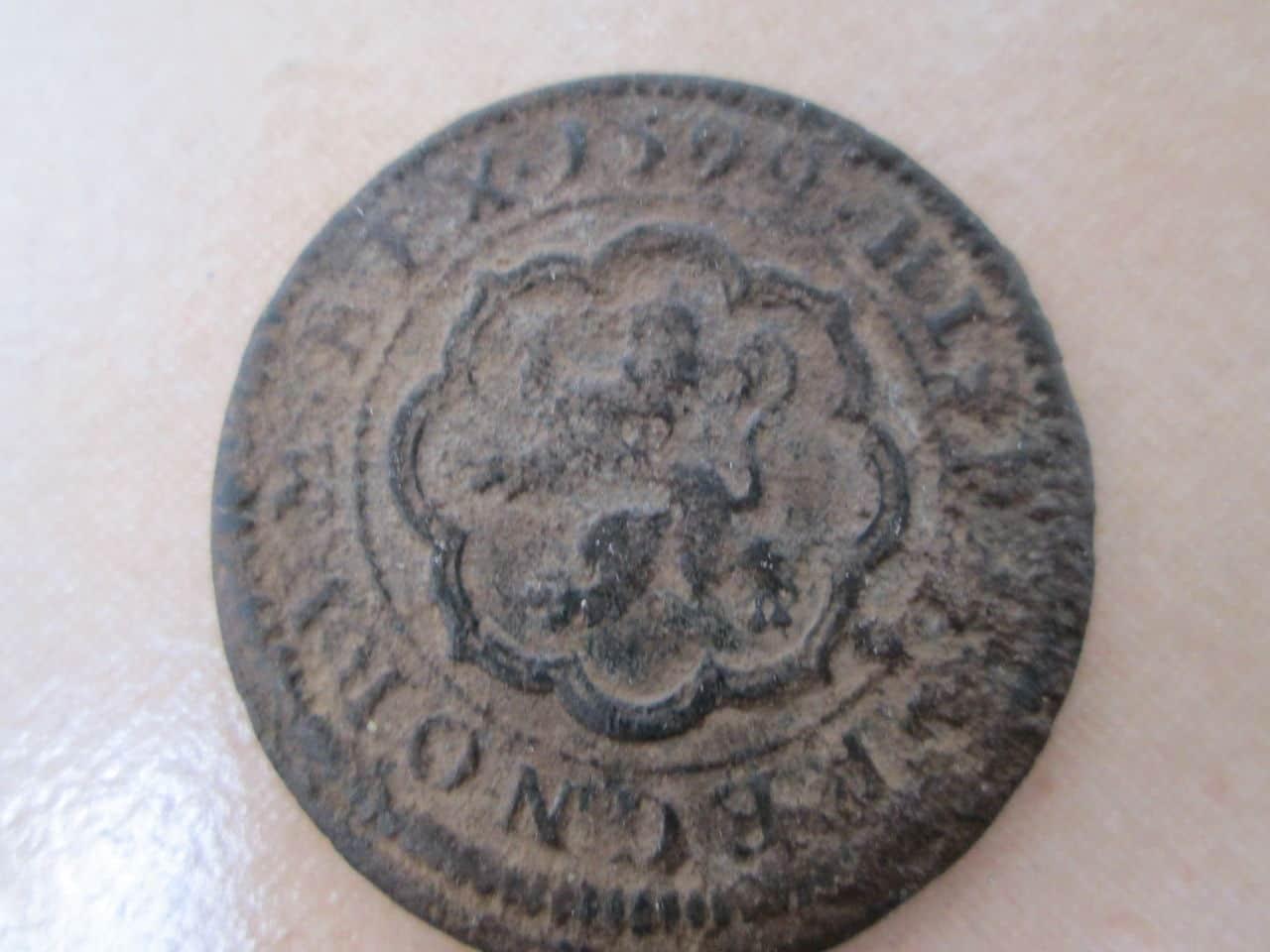 4 maravedís de Felipe III, 1599, tipo omnivm, Segovia. IMG_0753