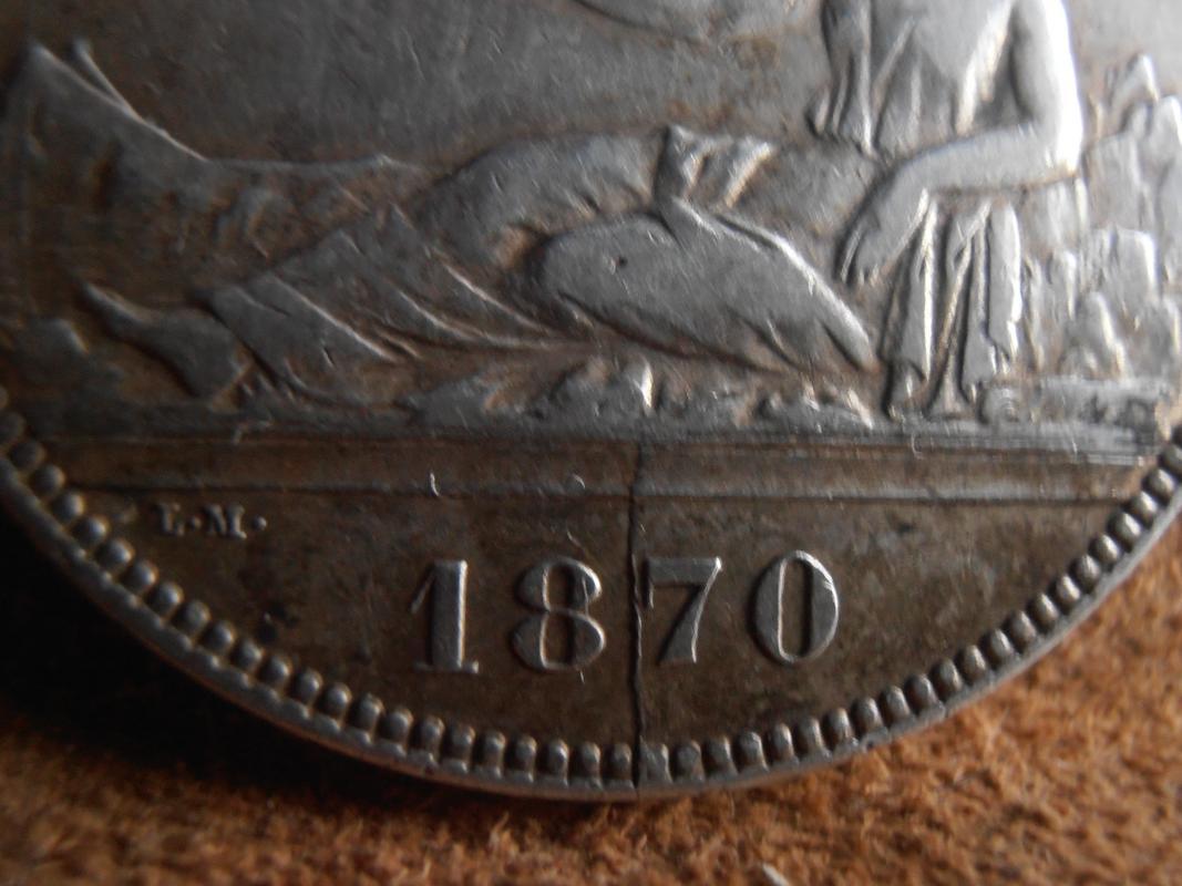 5 pesetas 1870. Gobierno Provisional PC010007