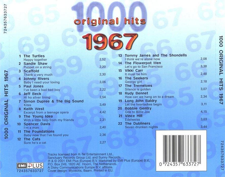 1000 Original Hits 1960-1999  1000_Original_Hits_1967_-_Back