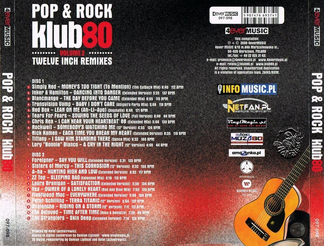 Pop and Rock Club 80 Back