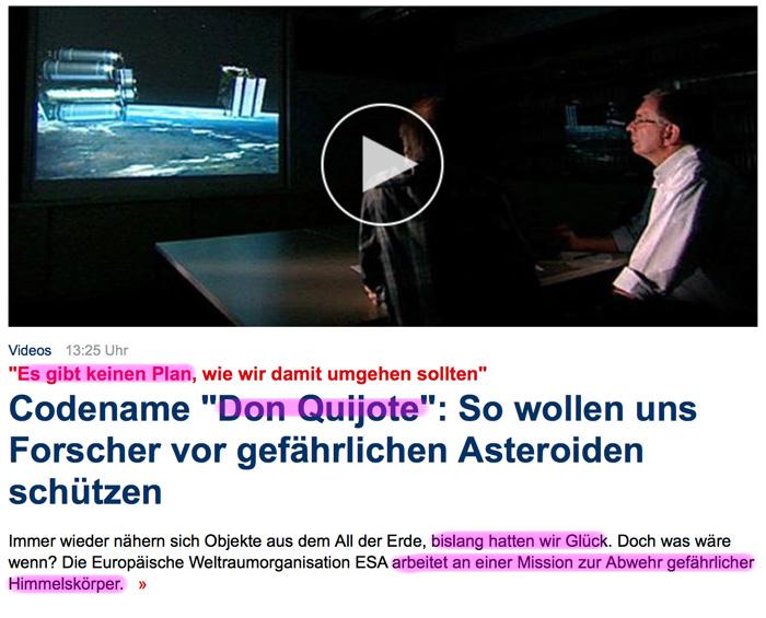 Asteroiden / Meteoriten / Kometen - Seite 2 Don_Quijote