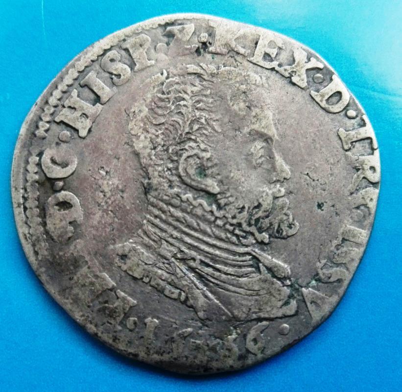 1/5 de Escudo de Felipe II de 1566. Acuñados en Hasselt IMG_20180318_163249