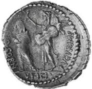 Glosario de monedas romanas. CORNUFICIUS. Image