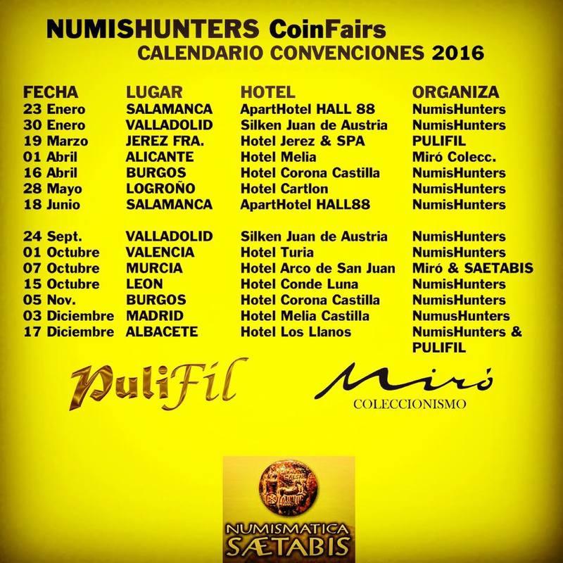 Convención numismática Sábado 24 de Septiembre Valladolid   14192766_1107237999356271_795938563263792402_n