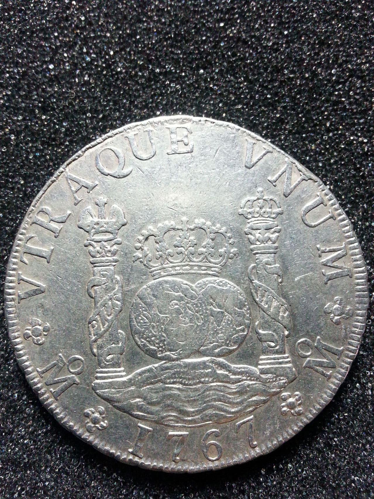 8 Reales Carlos III 1767 Mejico. 20150210_202001