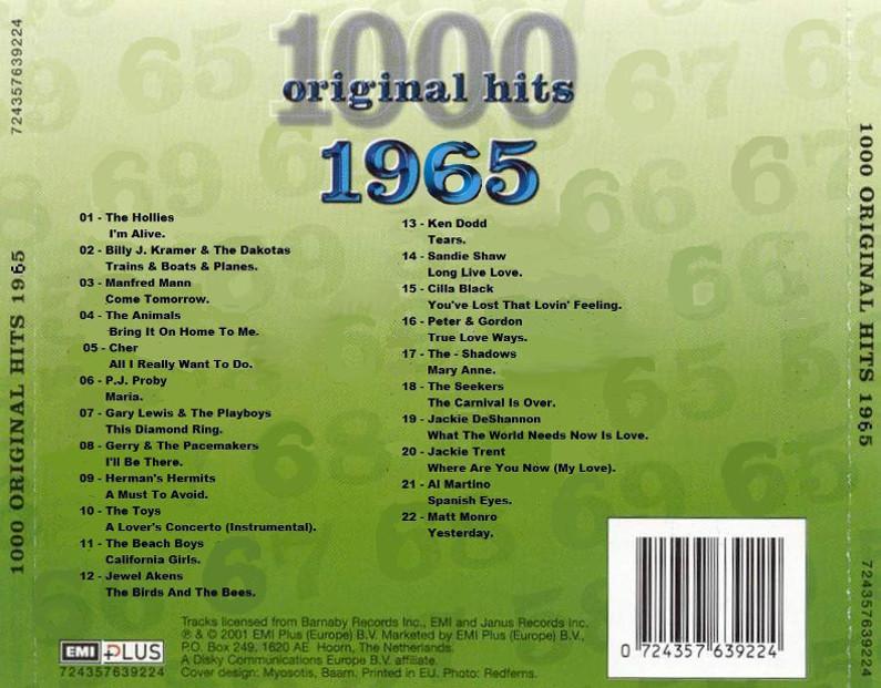 1000 Original Hits 1960-1999  Image