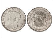 5 Pts.=1 peso 1895 Alfonso XIII PUERTO RICO ( SOLER lo ha retirado en su ultima subasta) ????? Image