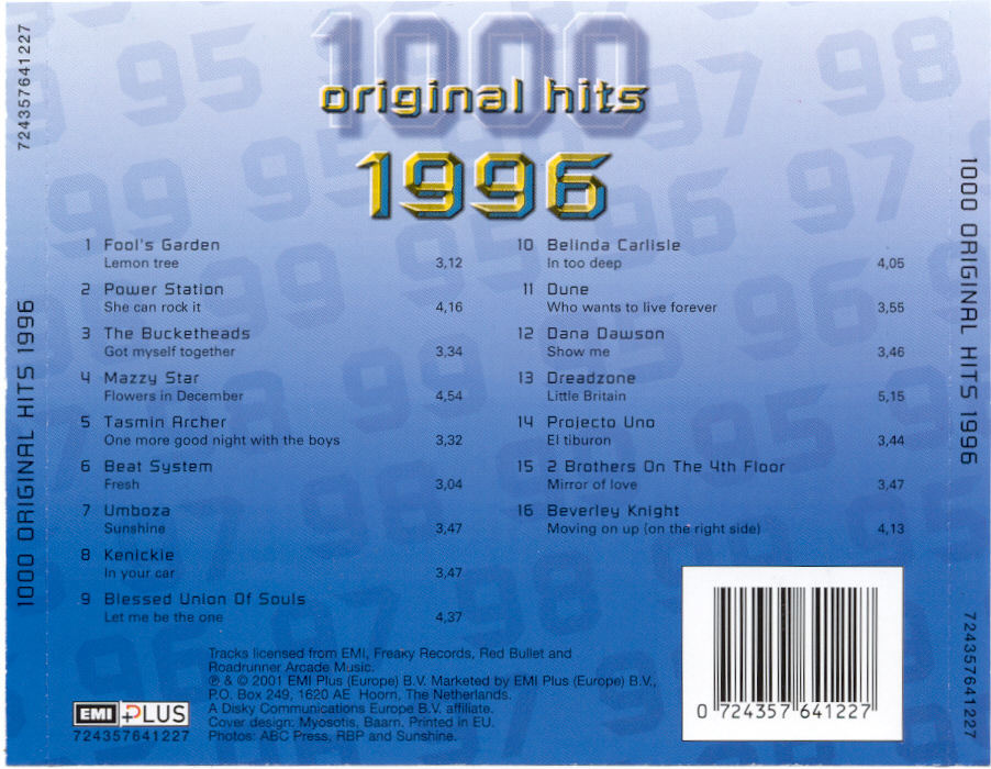1000 Original Hits 1960-1999  - Stránka 2 1000_Original_Hits_1996_-_Back