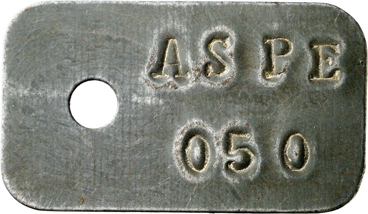 50 céntimos de Aspe. Guerra Civil Española. 0710