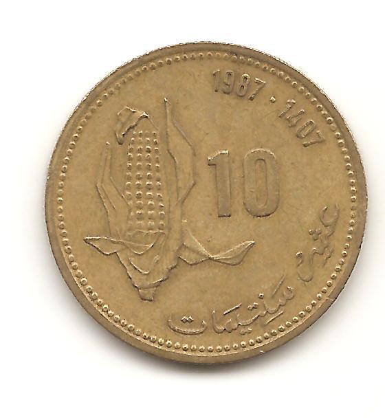 10 santimat de 1987 Marruecos Image