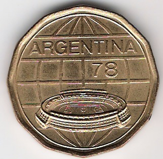 100 Pesos. Argentina (1977) Campeonato Mundial de Fútbol ARG_100_Pesos_anv