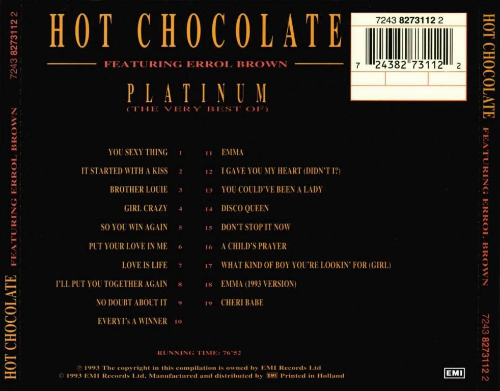 Hot Chocolate - (5CD Box Set) Original Album Series 320 Hot_Chocolate_-_Platinum_Back
