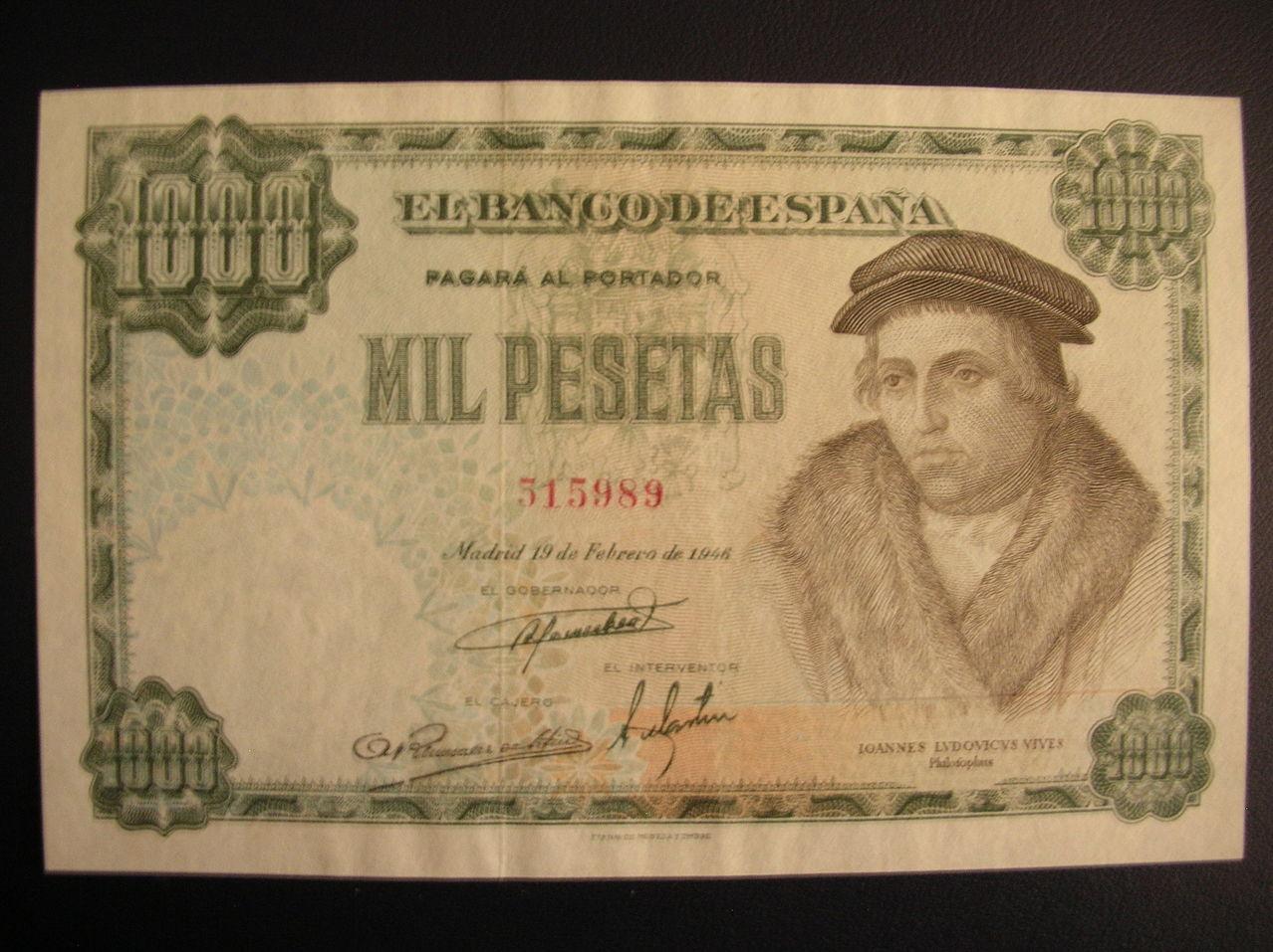 1000 Pesetas 1946 (Luis Vives) 1000ptas19461a