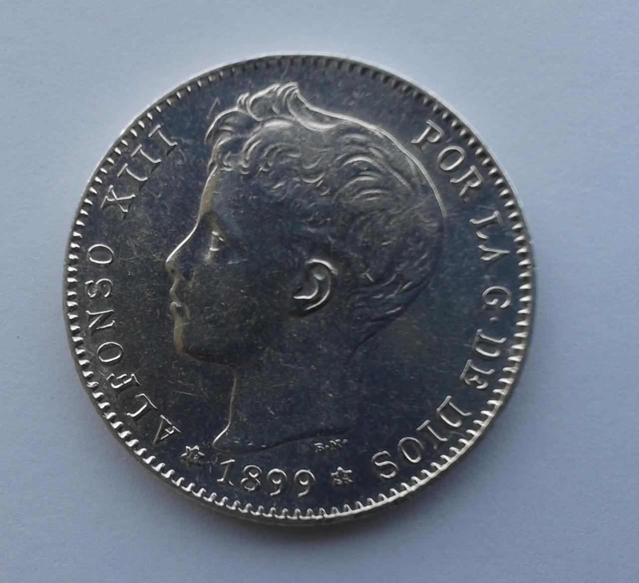 1 peseta 1899 - Alfonso XIII 20141028_152440