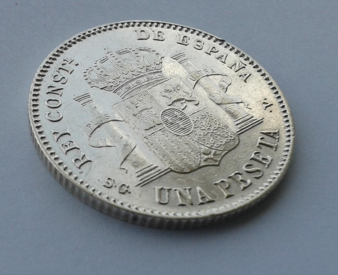 1 peseta 1899 - Alfonso XIII 20141028_152511