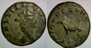 Antoniniano de Galieno. DIANAE CONS AVG. Antílope o Gacela. Ceca Roma. Gallienus