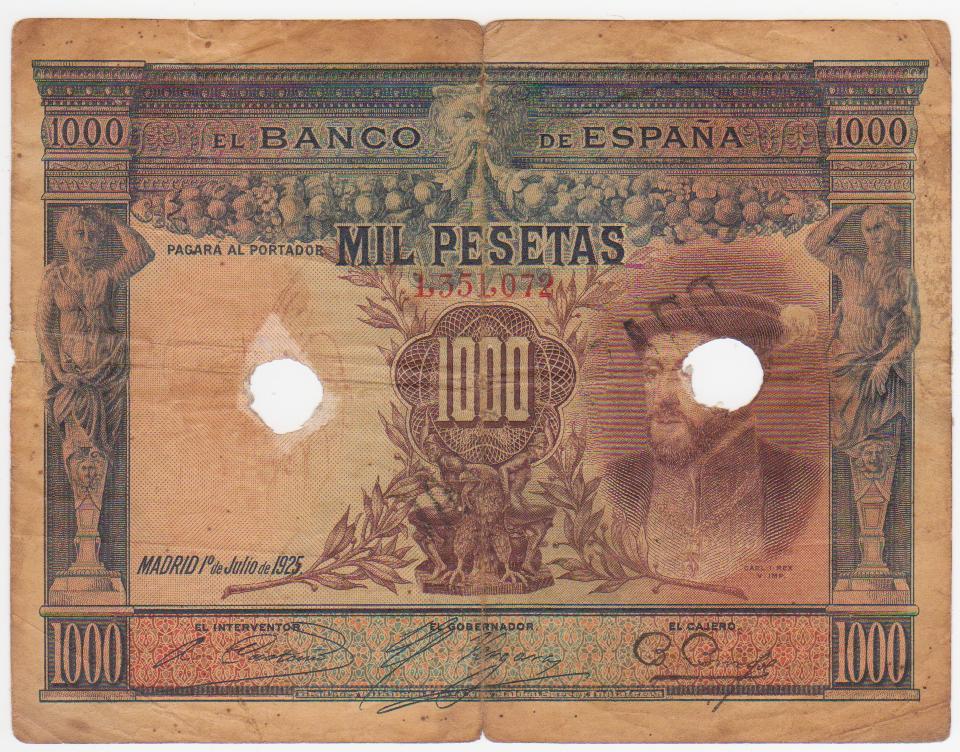 1000 Pesetas 1925 (Dos taladros y resello inutilizado) 1000_pts_1925_inutilizado