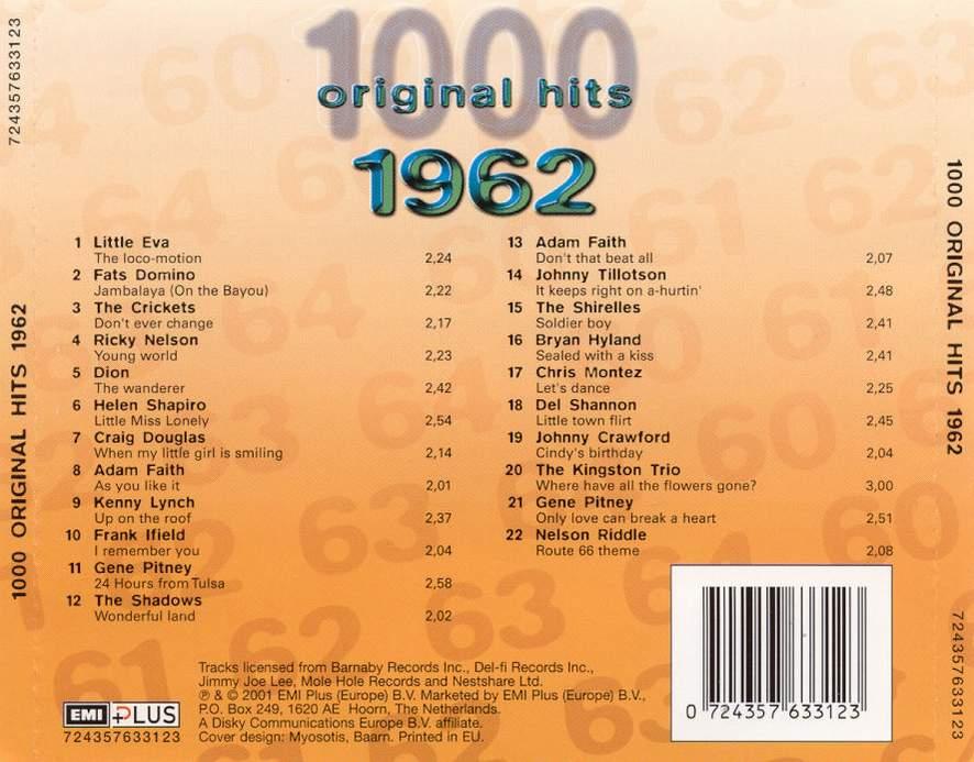1000 Original Hits 1960-1999  1000_Original_Hits_1962_-_Back