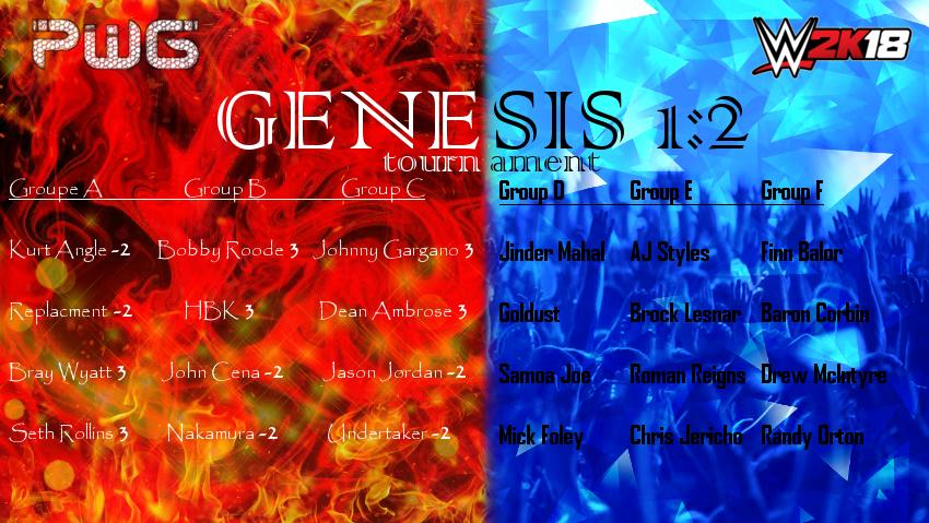 1/22/18 Match Card Genesis_Tournament