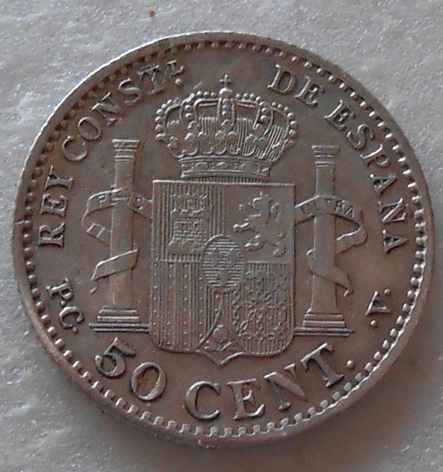 50 centimos Alfonso XIII - 1904 *1-0 DSCN1279