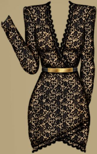 Short Lace Dress S78_D41