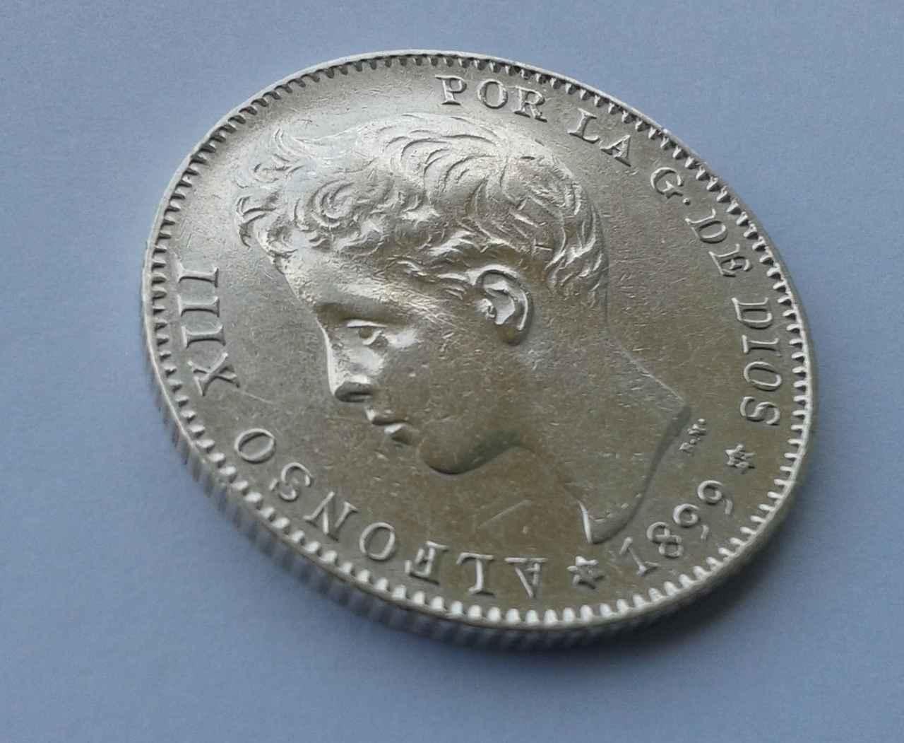 1 peseta 1899 - Alfonso XIII 20141028_152525