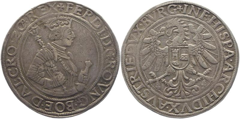 1 Taler a.1546. Fernando I, hermano de Carlos V. Ceca de Hall (Tirol Austríaco) 101103023bz_1