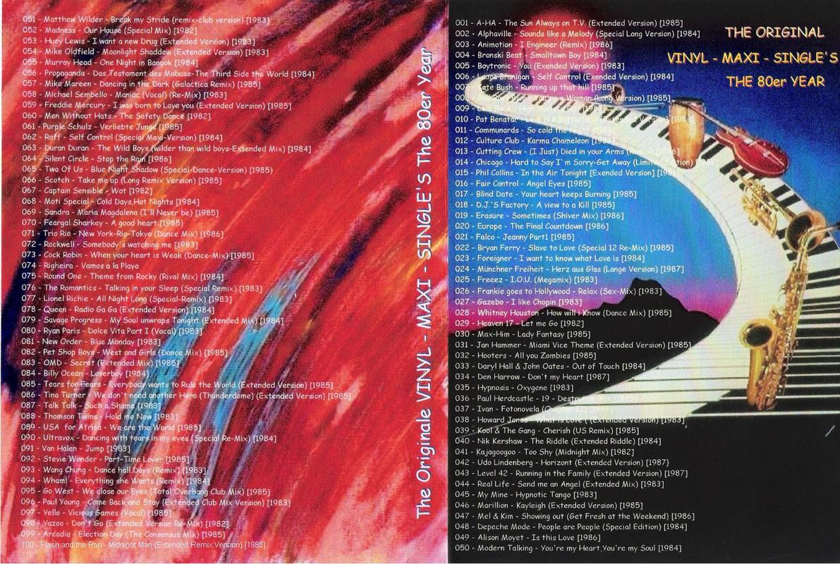 The 100 Original Vinyl Maxi Singles 80's  Front_PPP
