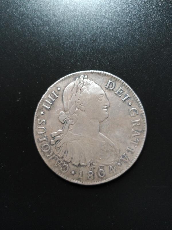 8 reales 1804. Carlos IV. Guatemala  Image