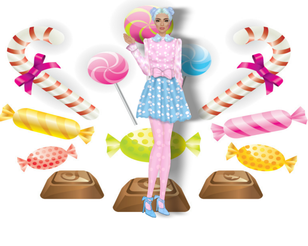 Leandra's Weekly Design Challenge: #9 Candy Kelbe_candy_outfit3