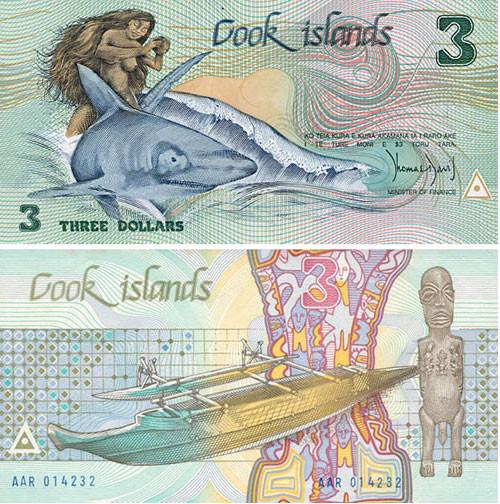 """1$ COOK ISLANDS """"TANGORA"""" Dios de la creación Polynesiano Cook"""