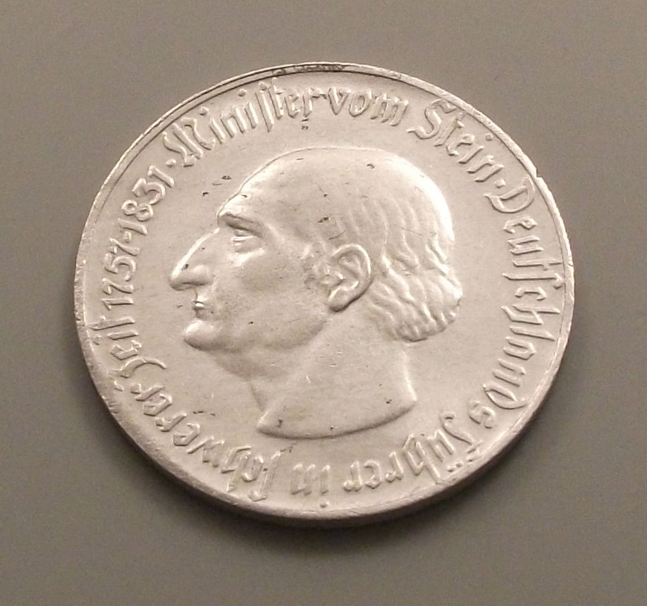 Monedas de emergencia emitidas por el banco regional de Westphalia 1923_2ma