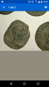 Sestercio de Trajano Decio. PANNONIAE - S C. Dos figuras femeninas que personifican la provincia de Panonia, Ceca Roma. Screenshot_2017-07-01-16-47-11