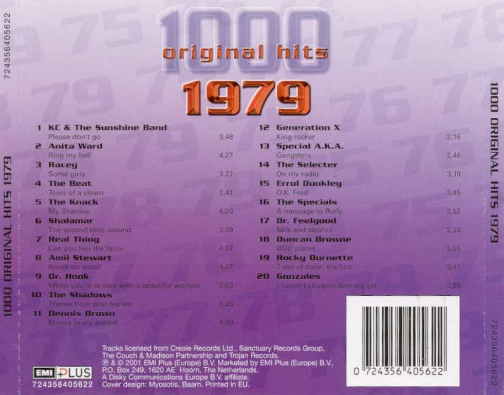 1000 Original Hits 1960-1999  1000_Original_Hits_1979_-_Back