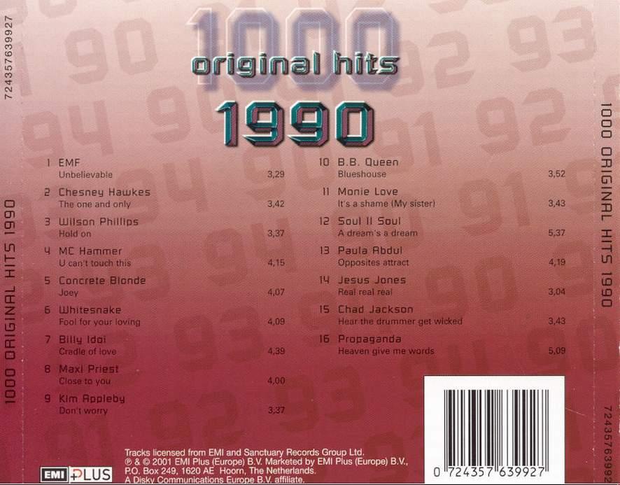 1000 Original Hits 1960-1999  - Stránka 2 1000_Original_Hits_1990_-_Back