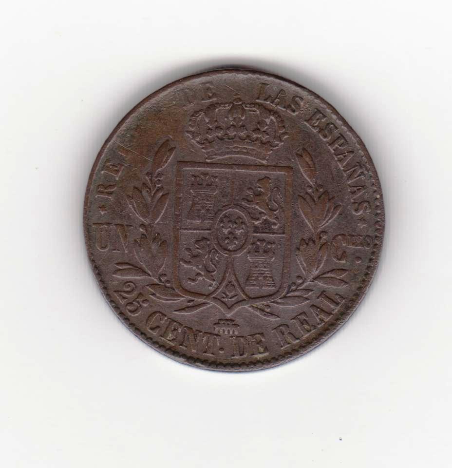 25 céntimos de real 1860 Segovia, Isabel II 25_centimos_de_real_isabel_001