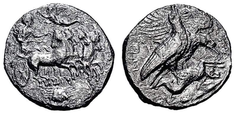 Tetradracma eubeo-ático. Akragas. 409-406 A.C. Magistrado Silanos. Uno de mis sueños al fin cumplido. Corroida