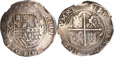 8 reales macuquinos. Felipe III. Méjico. MF (1607-1617) 2197336_m
