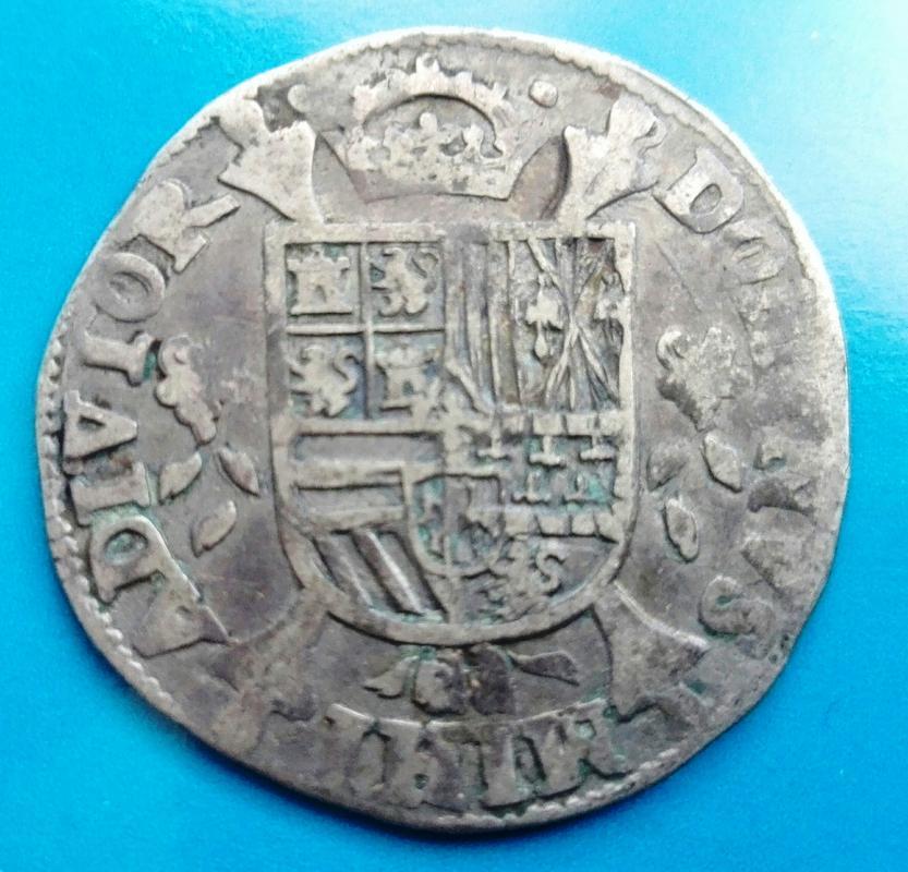 1/5 de Escudo de Felipe II de 1566. Acuñados en Hasselt IMG_20180318_163225